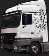 LKW Aufkleber Löwe