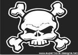Schädel mit Knochen