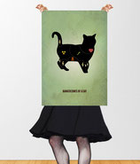 """Dangerzones of a black cat"" VintageART Retro Poster © hatgirl.de"