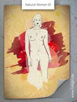 """Vintage Retro Poster """"Natural Woman"""" FRONT KURVENreich"""