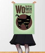 """""""Wo Du Deine Katze streicheln darfst"""" Retro Poster VintageART © hatgirl.de"""