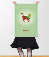 """Dangerzones of a cat"" VintageART Retro Poster © hatgirl.de"
