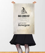 """Keep Running (Radfahrer)"" Vintage Poster © hatgirl.de"