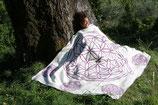 Energetisierte Biobaumwolldecke Vital violett / natur 150 x 200 cm