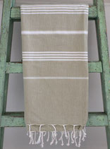 Hamamdoek lichtgroen- wit 1.00x1.80