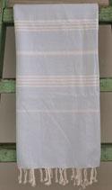 Hamamdoek lihtblauw wit 1.00x1.80