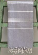 Hamamdoek grijs- wit 1.00x 1.80