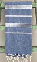 Hamamdoek donkerblauw-wit 1.00x1.80