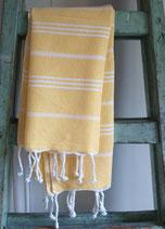 Hamamdoek geel- wit 1.00 x 1.80