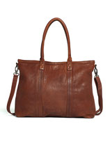 Victoria Bag - Cow Vegetable Tan Leather (Mustang Brown)