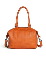 Atlanta Bag - Washed Buffalo Leather (Cherry Red)