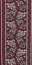 HA 5895-054 Paisley burgund red