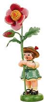 Blumenkind mit Heckenrose