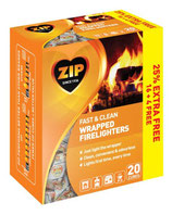 ZIP Fast & Clean Wrapped Firelighters - 20 Pack