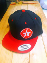 "snapback cap ""the black'n'red"""