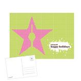 "weihnachtskarte ""happy holidays"""