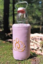 """Flaschenbezug für 0,5L Flaschen """"Rosa Lotus"""""""
