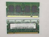 lot de 2 HYNIX 512MbX2 DDR2 SDRAM SO-DIMM (HYMP564S64CP6-Y5 AB)