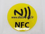 Tag autocollant NFC jaune