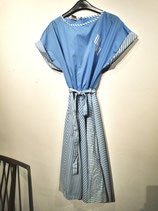 cotton dress, 80s light blue