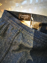 CHANEL, denim skirt, midi