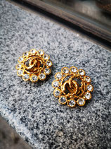 CHANEL, clip on earrings, Svarovski crystals