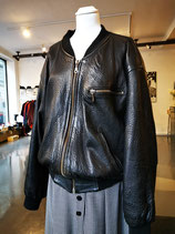 Leather bomberjacket