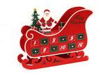 """Der """"Weihnachtsschlitten""""-Kalender ist  gefüllt mit feinen Pingel-Trüffeln. BITTE BEACHTEN: Für diesen Kalender gilt eine SONDERLIEFERZEIT. Er wird am 29.11.18 frisch gefüllt und versendet."""