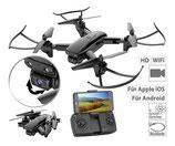 Simulus Faltbarer WiFi-FPV-Quadrocopter mit HD Kamera, Optical Flow, App GH-35.fpv