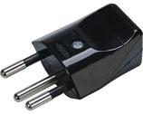 Stecker T12 10A 250 V schwarz