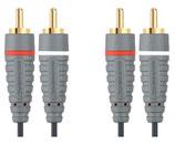 Bandridge BLUE Stereo-Cinch Kabel 3meter