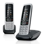 Schnurlostelefon Gigaset C430 Duo DECT Analog Schwarz Silber