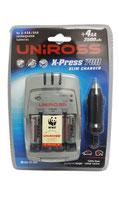 Uniross X-Press 700 Slim Charger 4+2AA Free