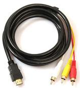 HDMI auf Cinch AV Audio Video Kabel 3-RCA Konverter 1.5 Meter
