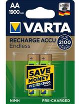 Varta Akku Recharge Accu Endless AA 1900 mAh