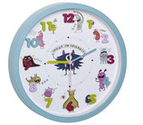 TFA Dostmann Kinder - Wanduhr Little Monsters - Ø 30.9 cm, Mehrfarbig