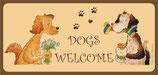 Kunstpostkarte lang dogs welcome