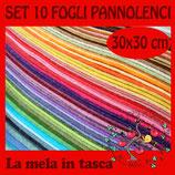 SET 10 FOGLI PANNOLENCI 1mm 30x30cm