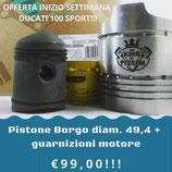 Pistone Borgo + Guarnizioni per ducati 125 sport
