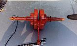 Albero motore cubicato in carbonio rosso porta penne