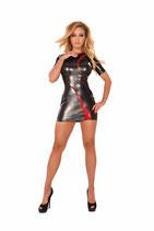 50-9458 Kleid Datex schwarz rot