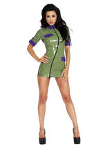 50-9226 Sexy Military Datex Latex Kleid Minikleid