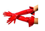 50-1062 Handschuhe, Lack, lang mit Umschlag