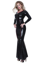 50-9143 Datex Kleid lang Cocktailkleid langarm