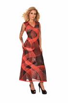 50-2284 Kleid Datex schwarz rot