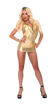 50-3262 Wet look mini-dress
