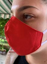 Mascherina 100% cotone anatomica Col.Rosso