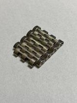 NSA (Novavit) Vintage Edelstahl Ersatzglied - link - 18 mm breit (guter gebrauchter Zustand - good used condition) für Heuer,Roamer u.a.