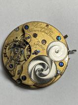 Uhrenfabrik Union Glashütte bei Dresden - komplettes feines 19´´´ defektes Taschenuhrwerk (Unruhwelle gebrochen!) um 1900 mit Zifferblatt & Zeigern - sonst guter Zustand - ohne Gewährleistung !