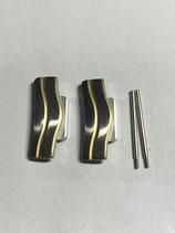 Ebel Sport Classic Wave Ref.: 1255F41/628.30.1 - Armband / Gehäuse Füllstücke - End Link Pieces - Breite 20mm mit Schrauben - NOS (New old Stock)